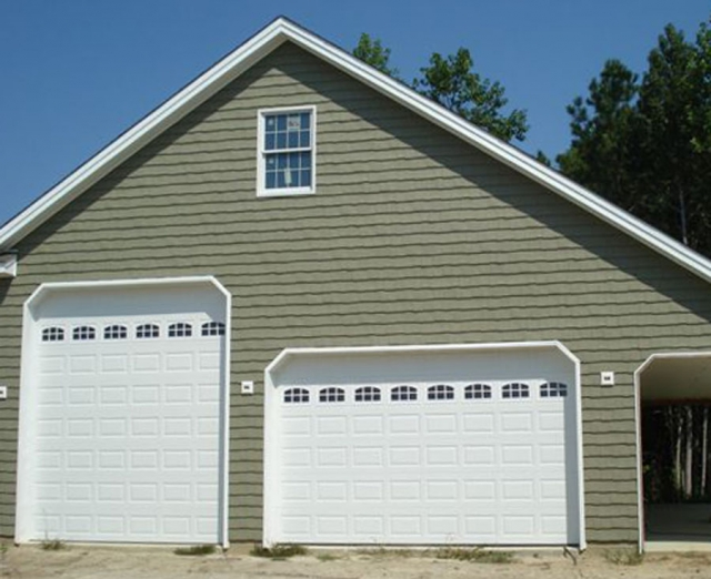 Gallery carefree exteriors garage door repair myrtle for Oversized garage door